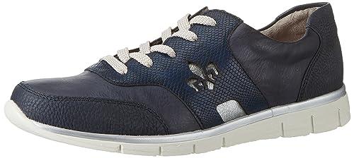 Rieker Damen Sneaker blau N4001 14