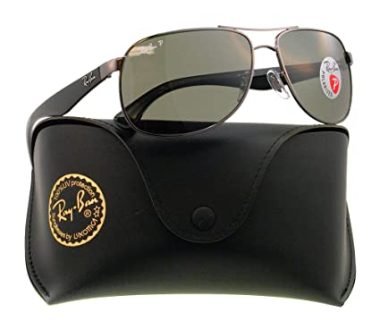ray ban mens aviator sunglasses gunmetal  ray ban men's orb3502 004/5861 polarized aviator sunglasses,gunmetal,61 mm