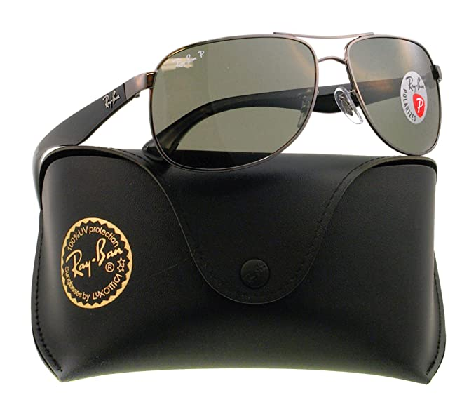 df3eadd308 Ray-Ban Men s Polarized RB3502-004 58-61 Gunmetal Oval Sunglasses ...