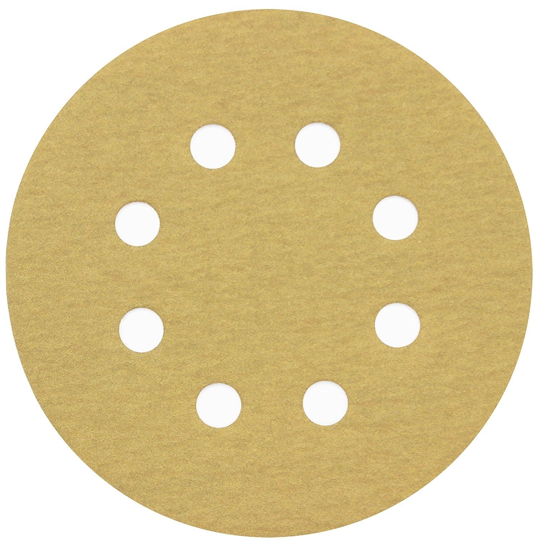 5in Sanding Discs, 100PCS 60 80 120 150 220 Grit Sandpaper Assortment, 8 Holes Dustless Hook and Loop, Random Orbital Sander Sand Paper, by LotFancy 61BPoMWs0OL