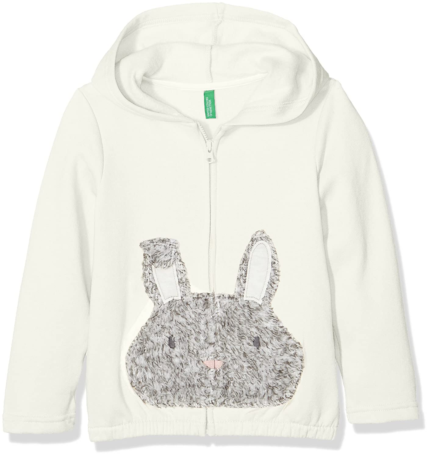 United Colors of Benetton Jacket W/Hood Longsleeve Cotton Blend, Giacca Bambina 3GW0C519P