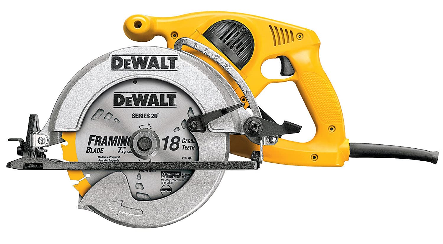 Dewalt dw378g 7 14 inch high torque framing saw power circular dewalt dw378g 7 14 inch high torque framing saw power circular saws amazon greentooth Choice Image