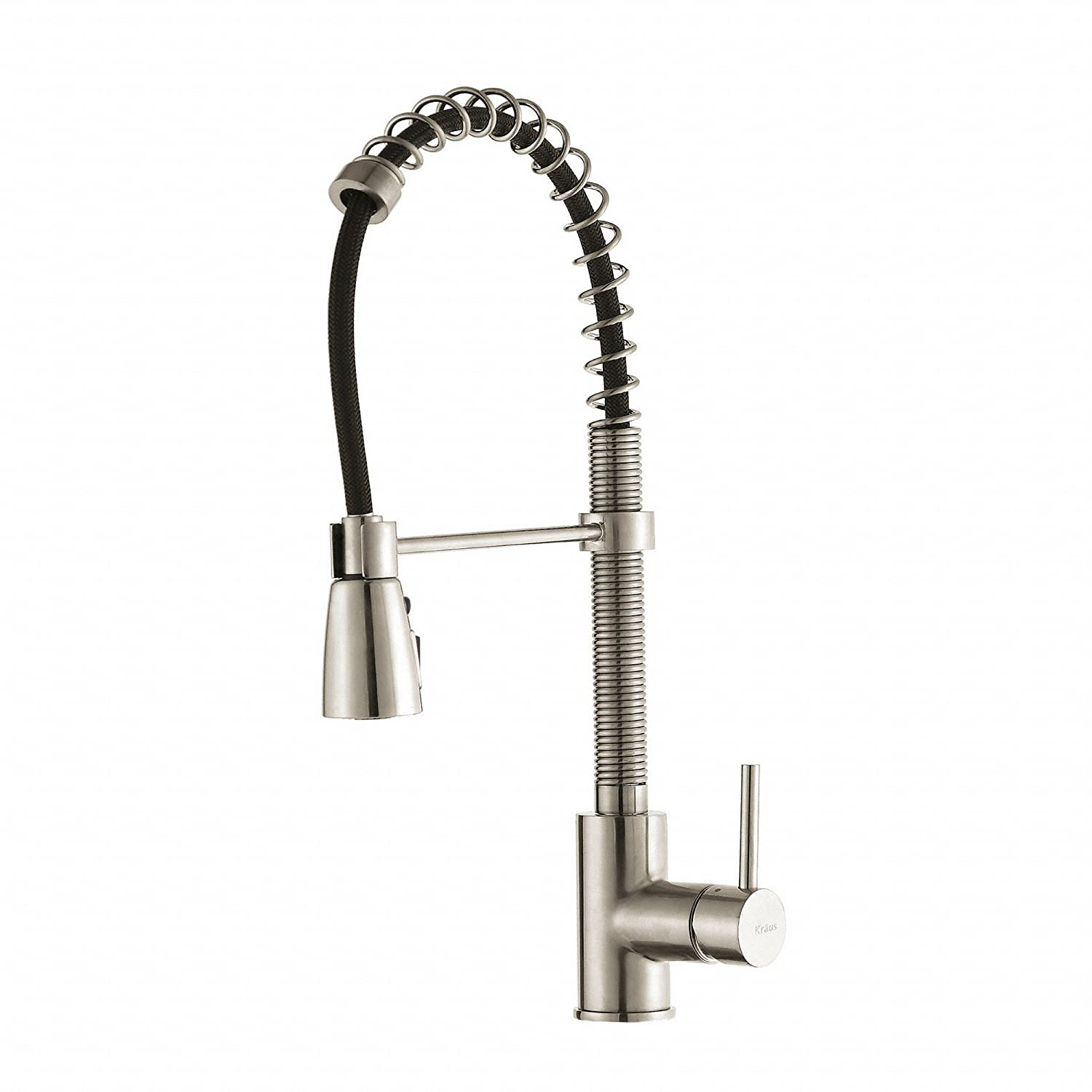 stainless kitchen american single down in standard huntley handle p selectflo faucets faucet steel sprayer pull