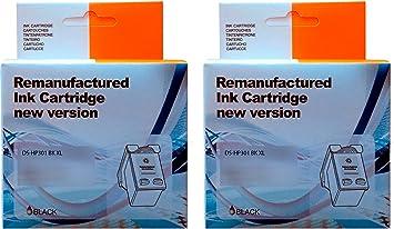 Pack 2 Unidades Cartucho Tinta HP 301 Negro XL: Amazon.es ...
