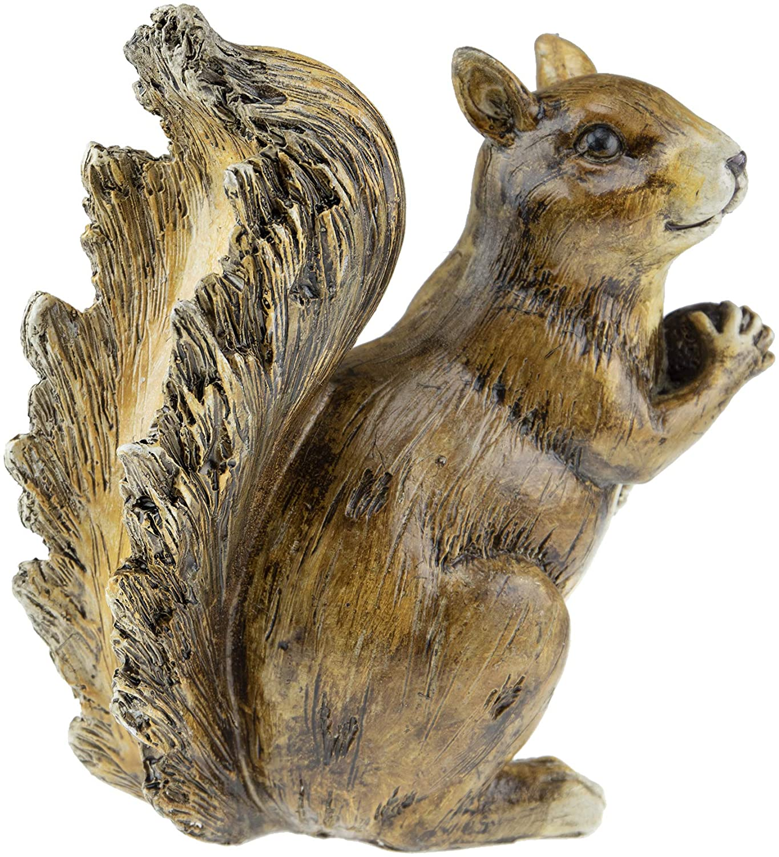 CLEVER GARDEN Cute Resin Garden Statue Decoration, Outdoor Lawn Yard Polyresin Animal Figurine Sculpture Ornament Décor, Squirrel