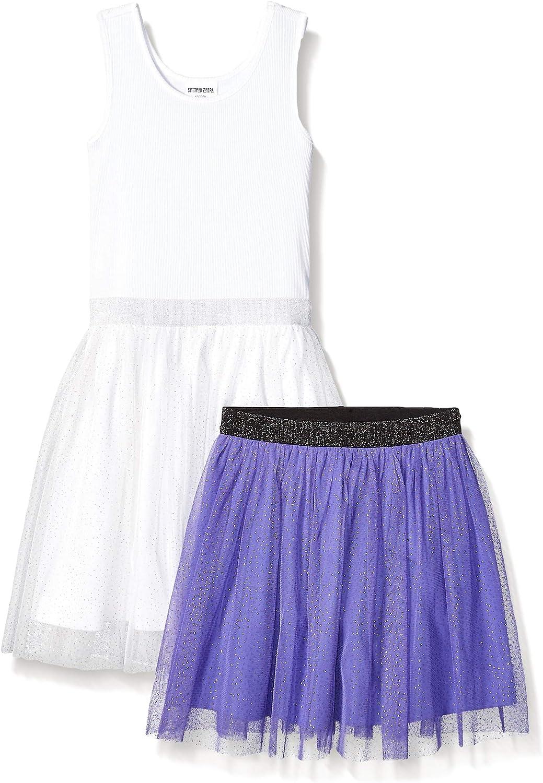 Marchio Pacco da 2 Spotted Zebra Tutu Tank Dress And Skirt Set Bambina