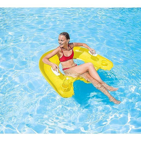 Intex 58859, Asiento de Piscina, Colores Aleatorios: Intex - Jeu de Plein Air - Matelas de piscine semi-immergé 152x99cm: Amazon.es: Juguetes y juegos