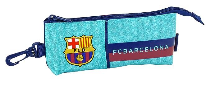 SAFTA Estuche Grande FC Barcelona 2ª Equipacion 17/18 Oficial Triangular Ovalado 200x50x85mm