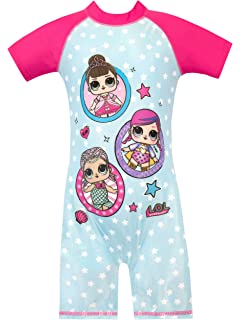 fa36e22779 L.O.L Surprise! Girls Dolls Swimsuit: Amazon.co.uk: Clothing