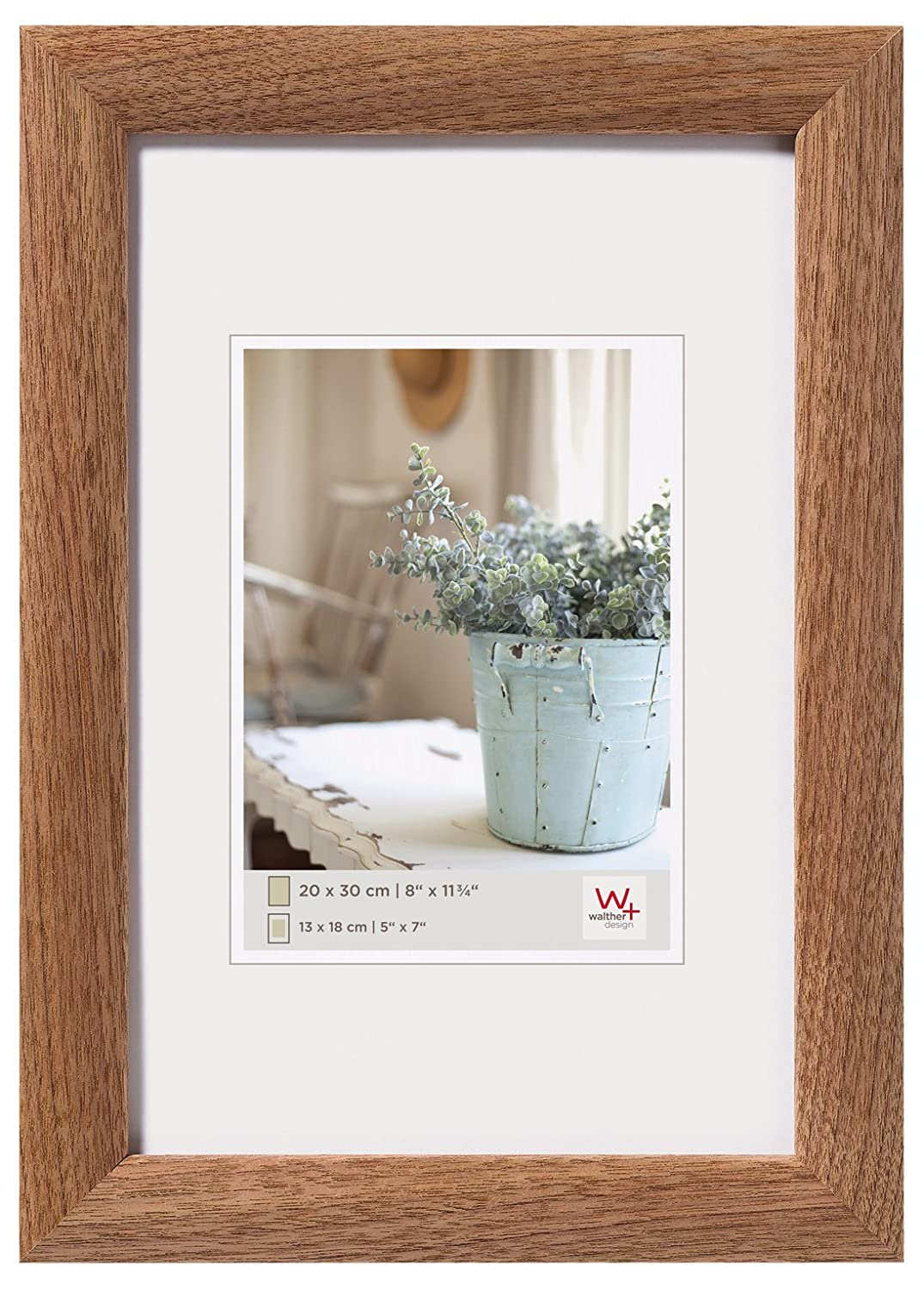 walther design Interieur Picture Frame, Wood, Walnut, 40 x 50 x 1.5 ...