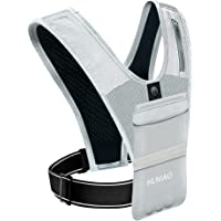HLNIAO Universal Running Vest, Phone Holder with Adjustable Waistband, Elastic Running Backpack for Jogging Hiking…