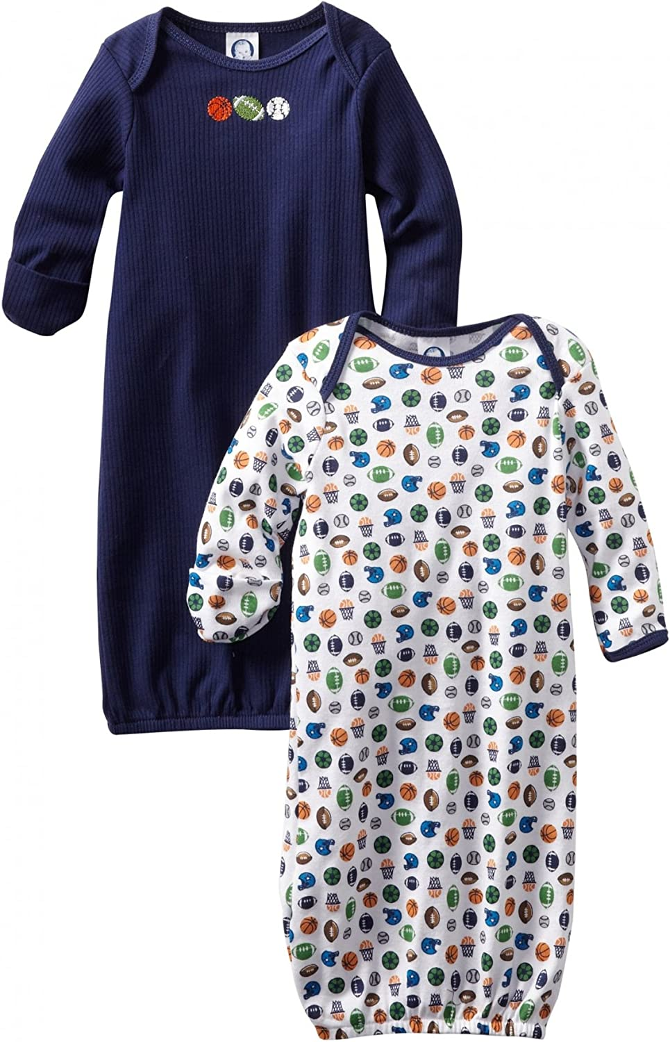 Gerber Unisex-baby  2 Pack Gown Lap Shoulder And Bootie