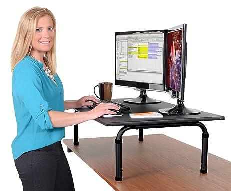 Amazoncom 42 Wide Adjustable Height Standing Desk Convert