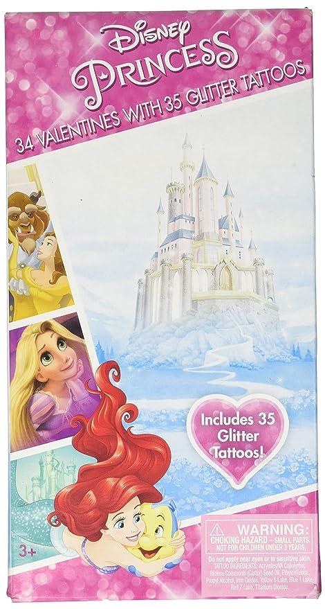 e4f474e6a2e1d Amazon.com: Disney Princesses Valentines 34 Cards with Tattoos ...