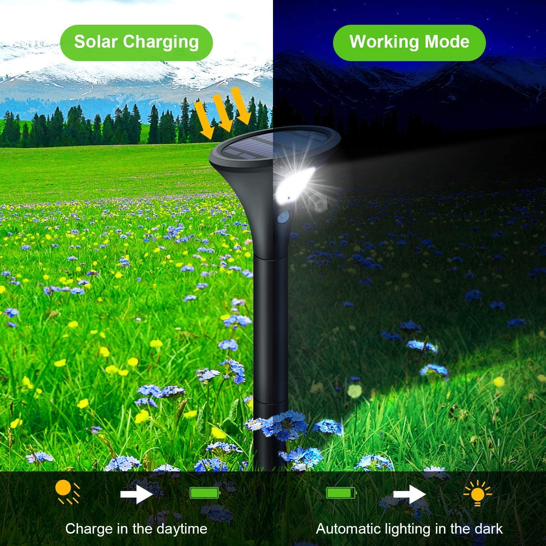 Spot Solaire Ext/érieur 2200mAh Lumi/ère Lampe de S/écutit/é Puissante sans Fil pour Jardin AOPAWA 2 Pack /éclairage Solaire 270/° avec D/étecteur de Mouvement /étanche Lampe Solaire Ext/érieur 210 LED