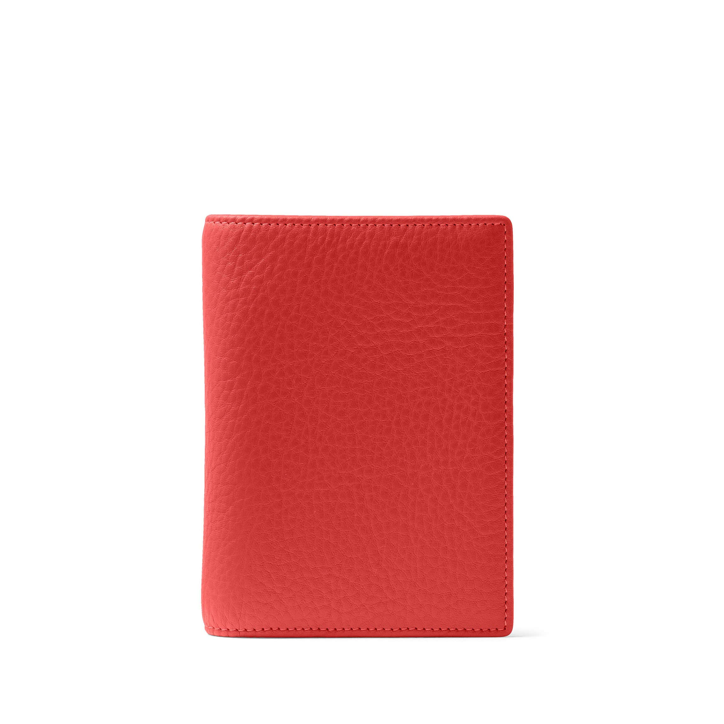 Deluxe Passport Cover - Full Grain Leather Leather - RFID Scarlet (Red)