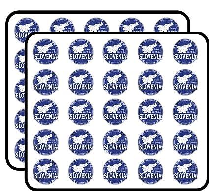 Amazon.com: Slovenia Map Grunge Stamp Art Decor Sticker for ...
