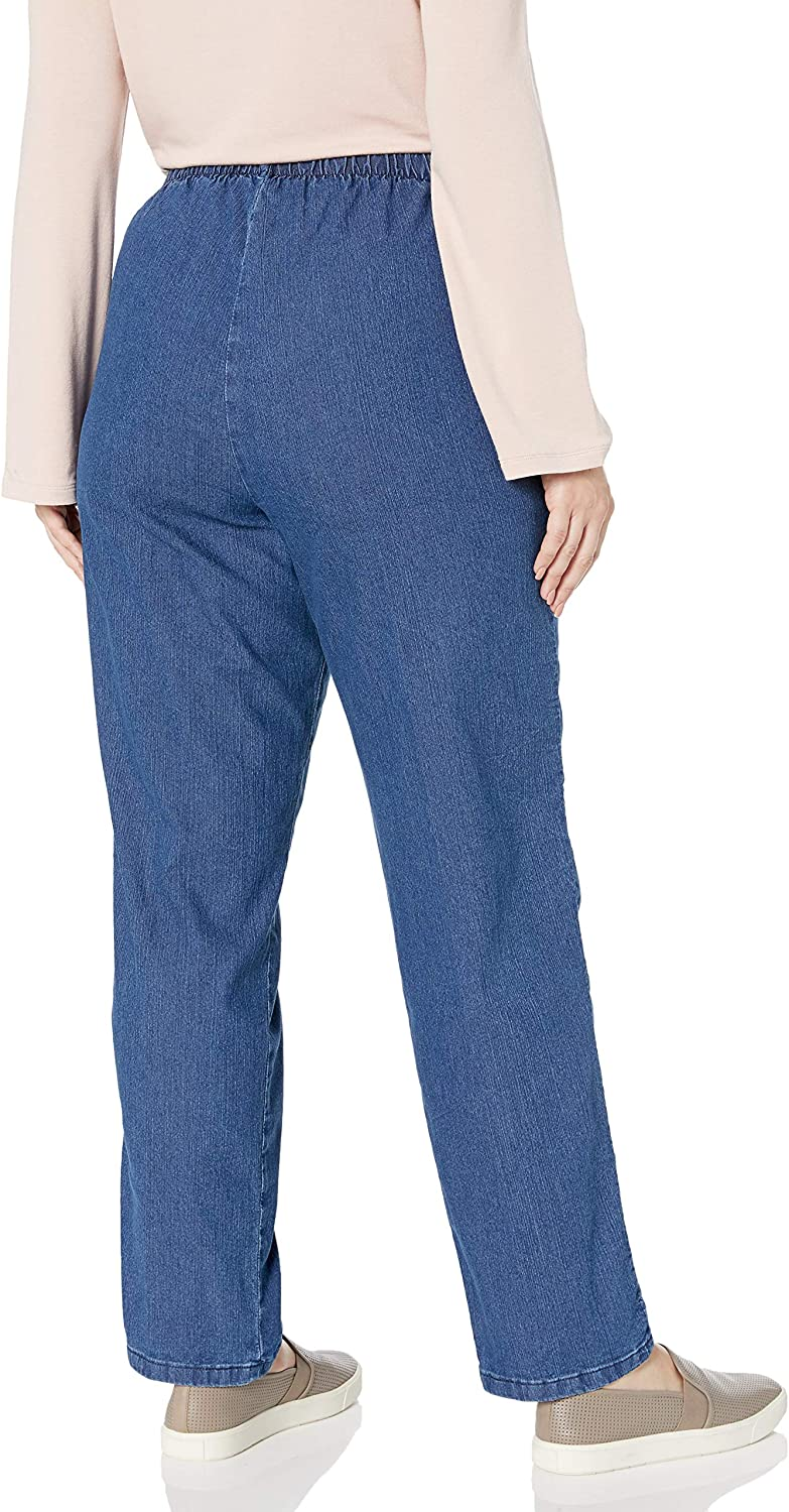 Chic Classic Collection Womens Petite-Plus-Size Plus Petite Stretch Denim Pull on Pant