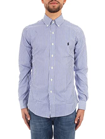 pretty nice d24e1 47a21 Polo Ralph Lauren Camicia Popeline a Righe Slim-Fit Uomo Mod ...