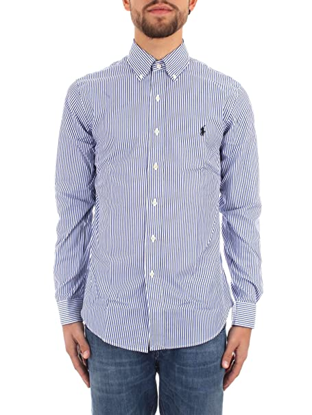 Ralph Lauren 710705269 R Camicie Uomo Blue/White XXL: Amazon.es ...