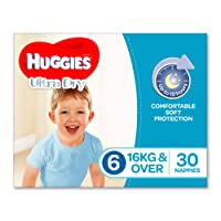 Huggies Ultra Dry Nappies, Boys, Size 6 Junior (16kg+), 30 Count