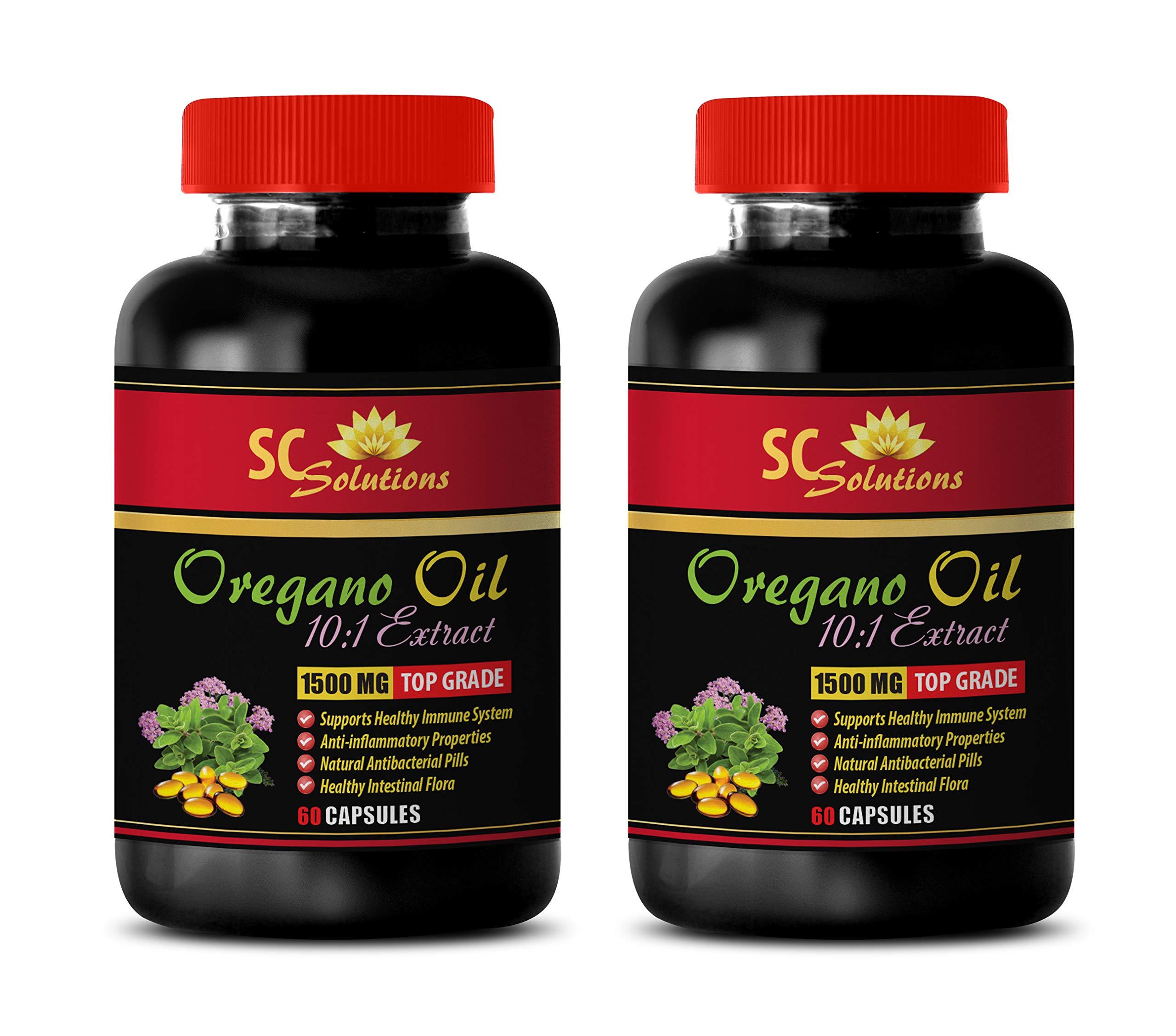 Digestive cleaner - OREGANO OIL EXTRACT 1500mg - Oregano capsules - 2 Bottles 120 Capsules