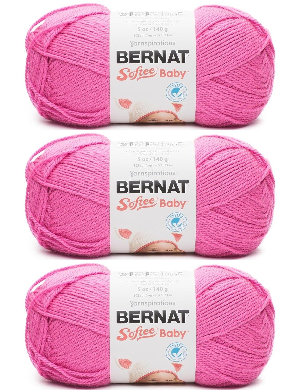3836d5b21 Bernat Softee Baby Yarn 3 Pack Bundle Includes 3 Patterns DK Light ...