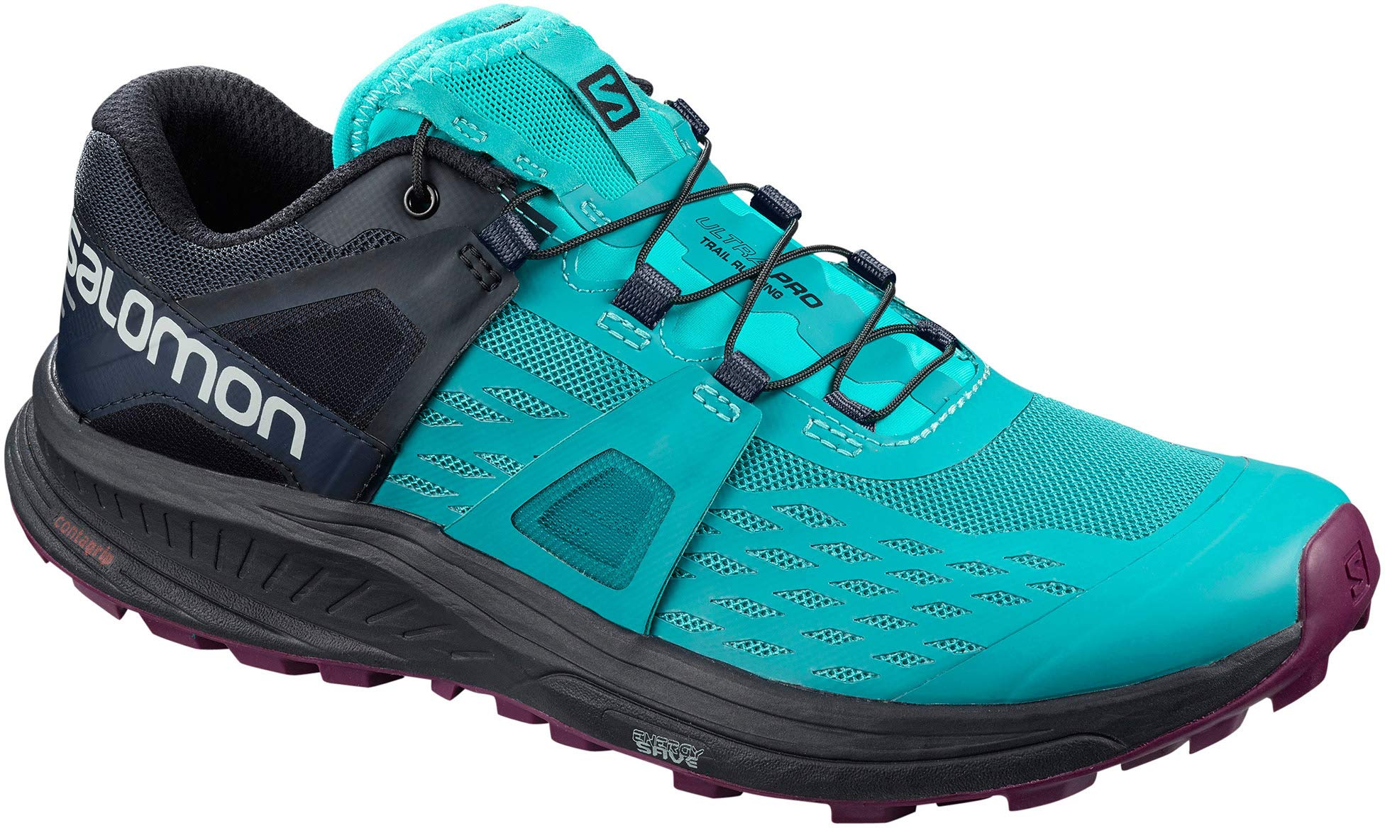 SALOMON Ultra Pro Trail Running Shoes Womens Sz 8 Tile Blue/Navy/Dark Purple by SALOMON