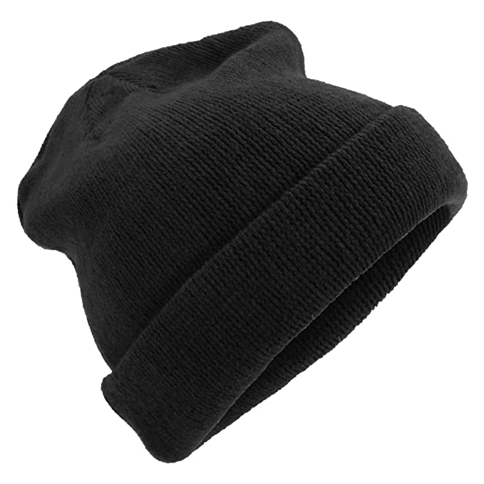 Ladies Womens Soft Touch Winter Thermal Hat (One Size) (Black ... 379b4ae7975