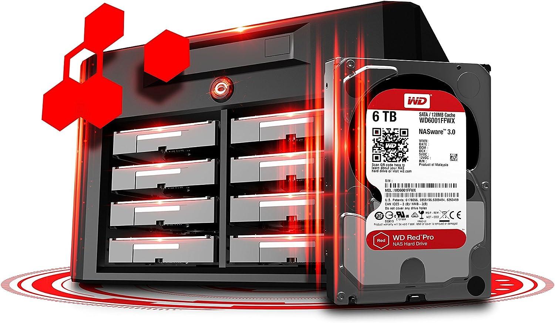 WD6002FFWX WD Red Pro 6TB 3.5-Inch SATA III 7200rpm 128MB Cache NAS Internal Hard Drive