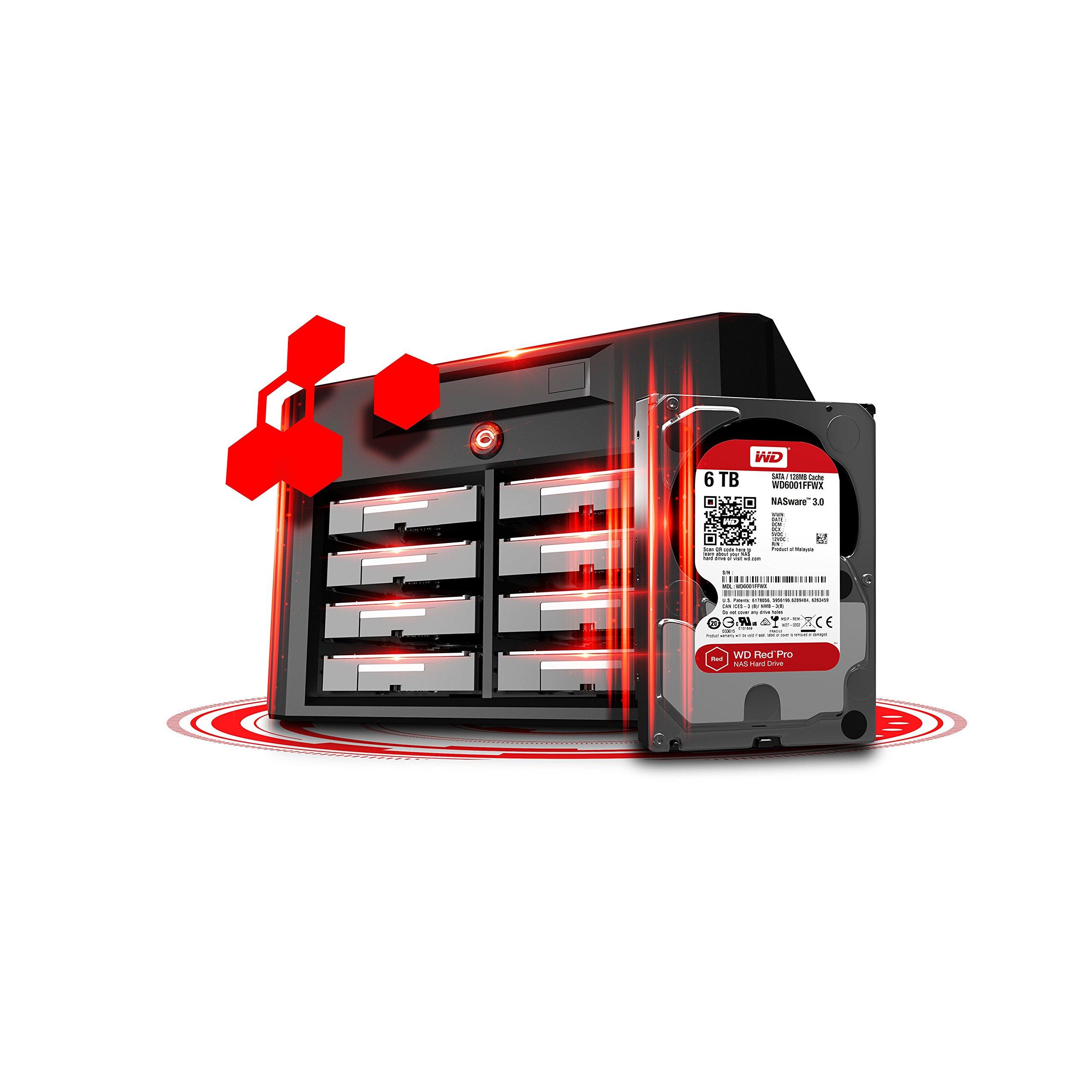 WD Red Pro 6TB 3.5-Inch SATA III 7200rpm 128MB Cache NAS Internal Hard Drive (WD6002FFWX) by Western Digital