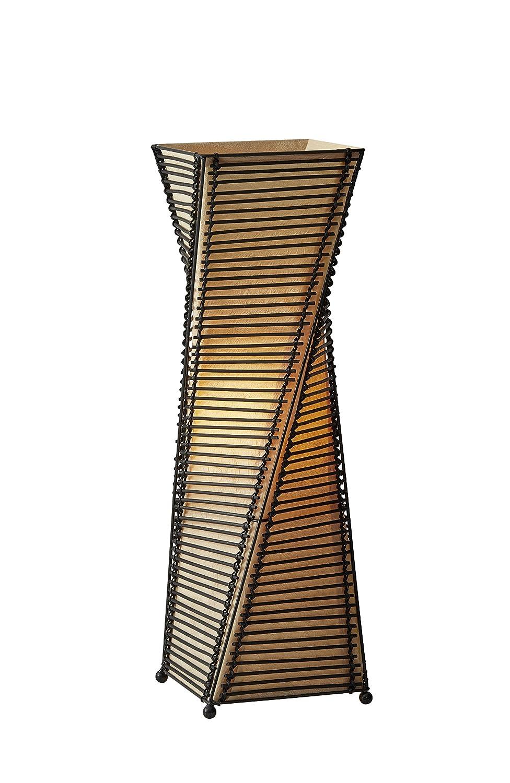 "Adesso 4045-01 Stix 24.5"" Table Lantern, Black, Smart Outlet Compatible"