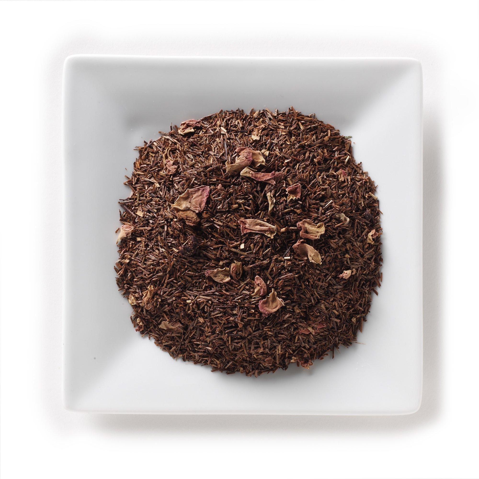 Mahamosa Raspberry Vanilla Rooibos Tea 8 oz - Loose Leaf Rooibos Herbal Tea Blend (with flavoring, freeze-dried whole raspberries, rose petals, vanilla pieces)