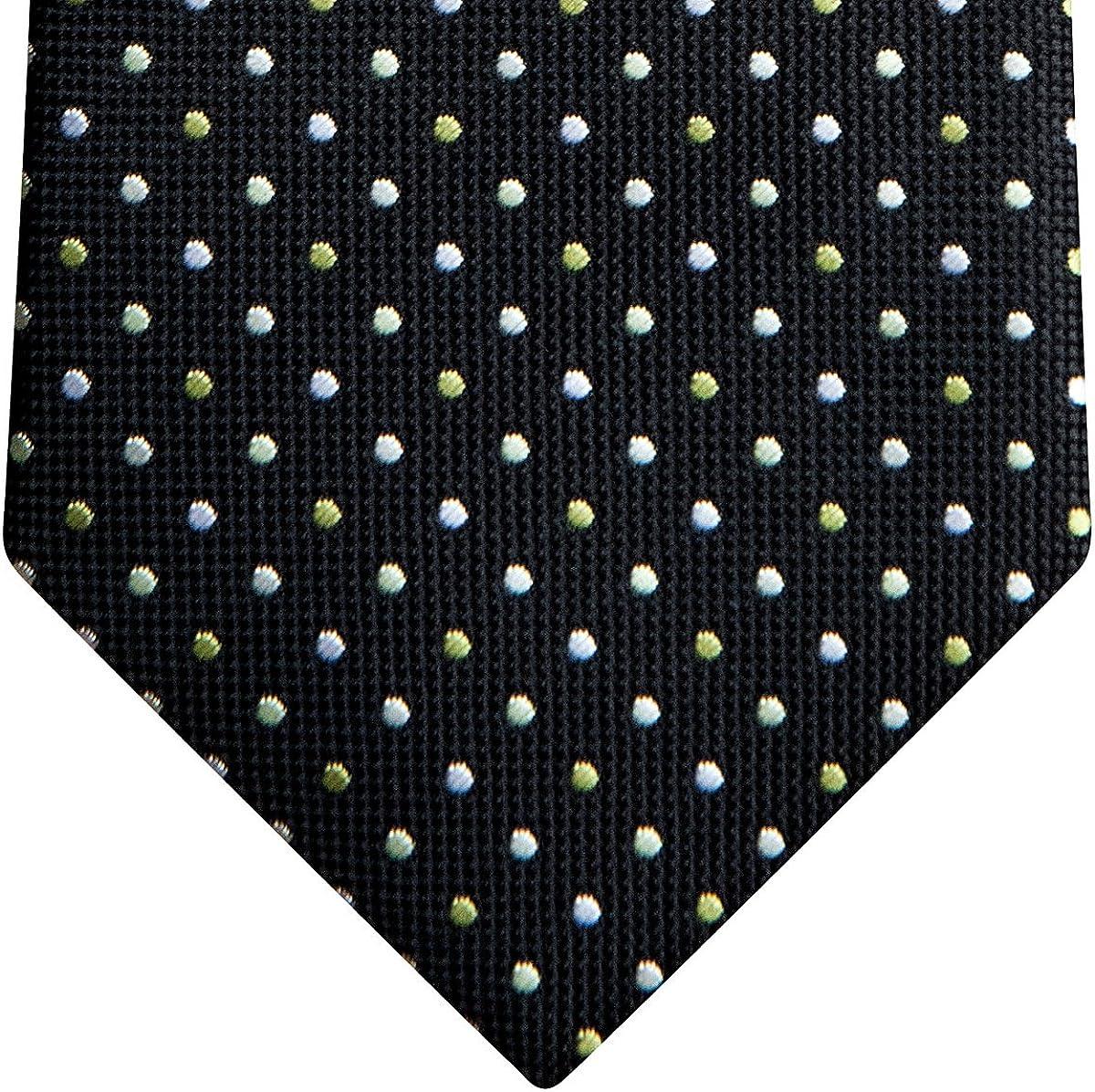 Corbata para niño de diseño vintage con lunares de tres colores ...