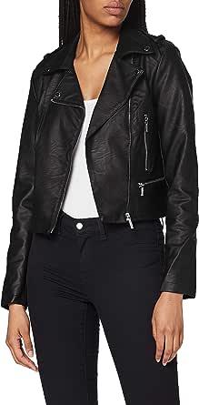 Morgan Women's Perfecto Pu Grainé Grammo Faux Leather Jacket