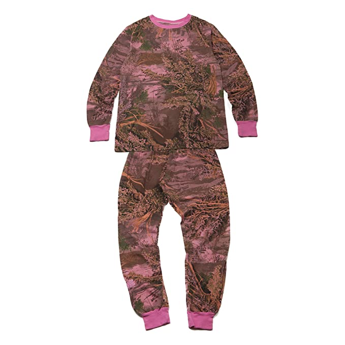 Realtree Premium Cotton Camo Kids Pajamas (4 Color Options) (10, Overdye Pink