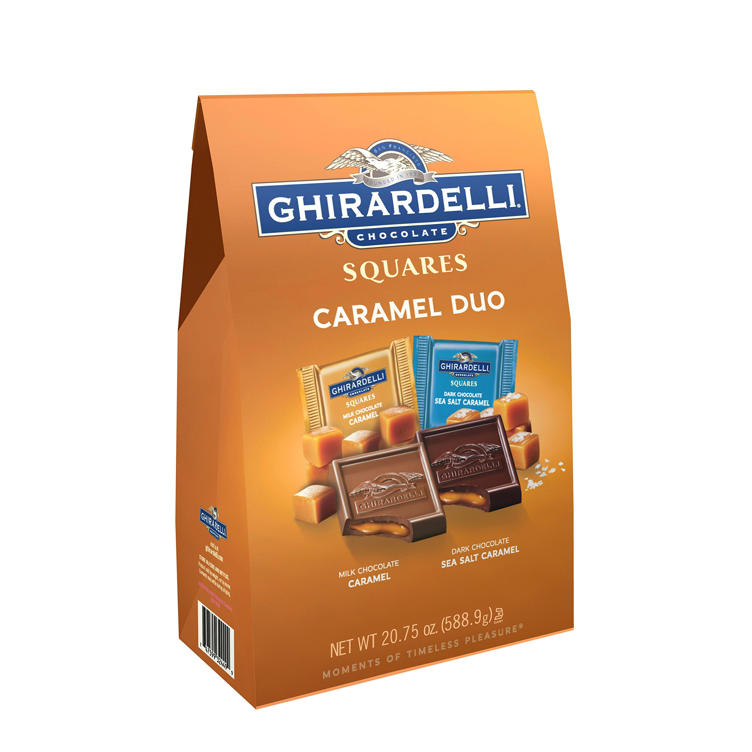 Ghirardelli Milk & Caramel Chocolate Squares, 27.5 Oz.,, 20.75 Oz () by Ghirardelli