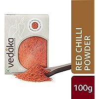 Amazon Brand - Vedaka Red Chilli (Lal Mirch) Powder, 100g