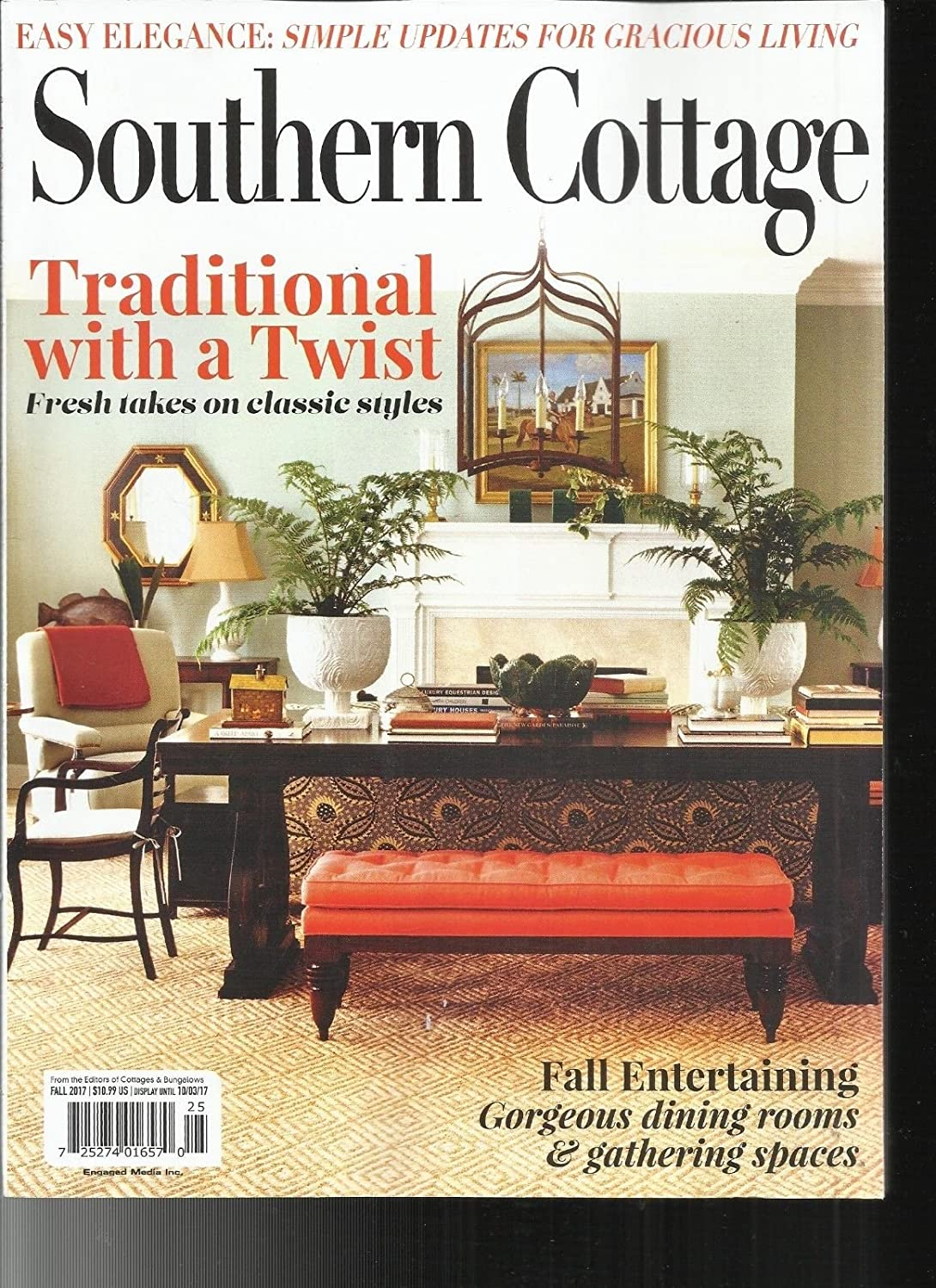 SOUTHERN COTTAGE MAGAZINE FALL, 2017 TRADITIONAL WITH A TWIST s3457