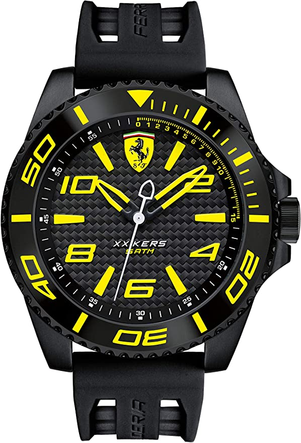 Scuderia Ferrari Analog Black Dial Men's Watch - 0830307 Men's Watches at amazon