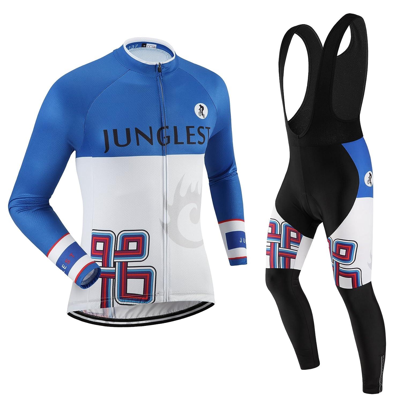 Cycling Jersey Set Wen長袖(S ~ 5 X L、オプション:よだれかけ、3dパッド) n137 B01BUHF3T4  種類: セット(ブラック前掛け) XXXL(2.8cm 3D pad)(186-192cm/90-94kg)