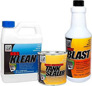 KBS Coatings 52000 Cycle Tank Sealer Kit, Complete Kit - Seals Up to 5 Gallon Tank