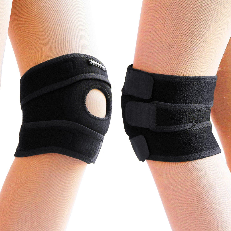 Knee Braces, GROOFOO Adjustable Hinged Knee Brace [Black Knee Brace] [knee brace support] [neoprene knee brace] for Arthritic Pain Relief, Sports Injury Rehabilitation & Protection against Reinjury