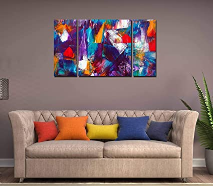 Rabhya International 48 Piece Abstract Wall Art Colorful Canvas Inspiration Living Room International Painting