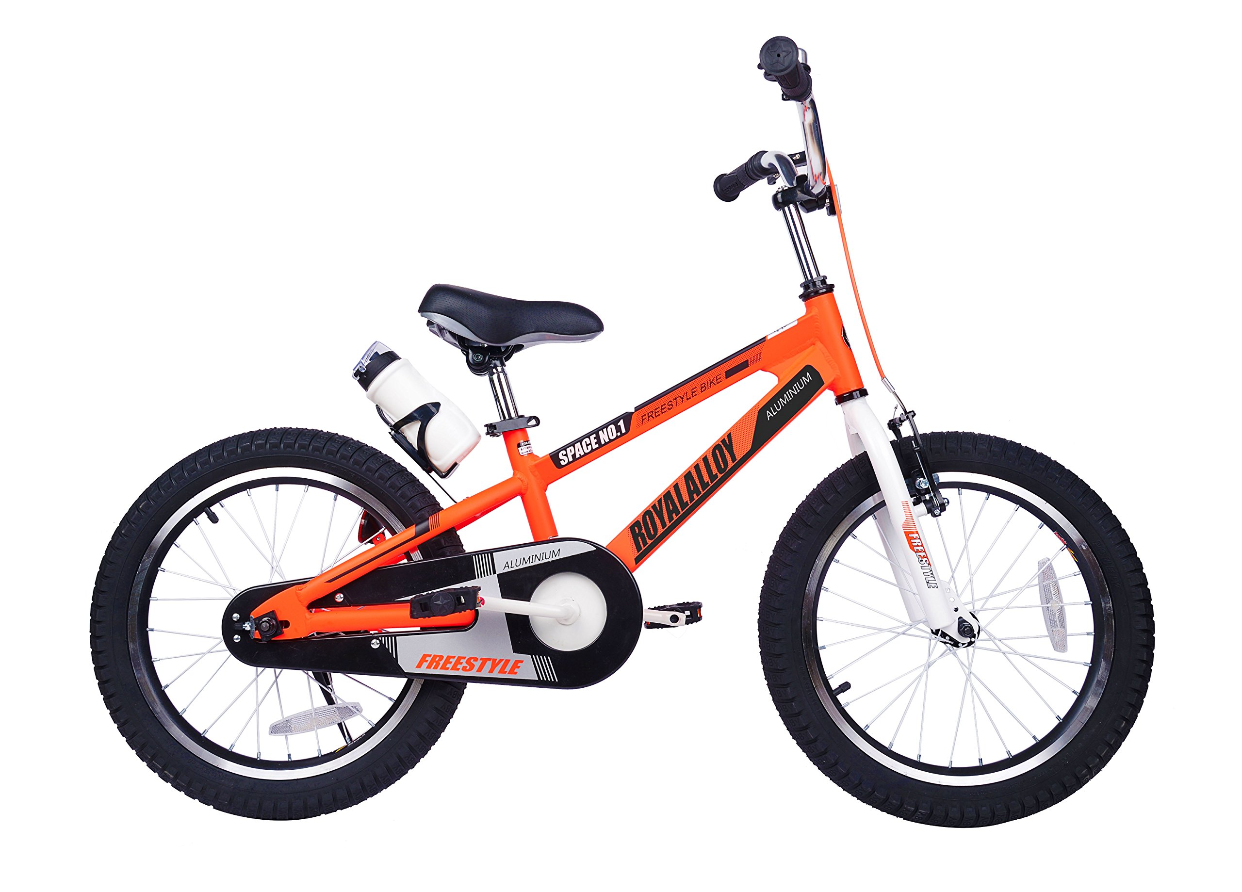 Royalbaby Space No. 1 Aluminum Kid's Bike, 16 inch Wheels, Orange