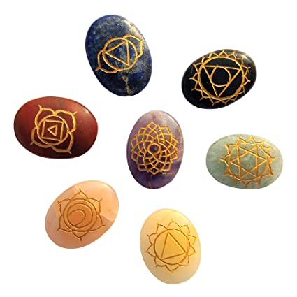 Buy Divine Magic Healing Crystals With Engraved 7 Chakra Symbols