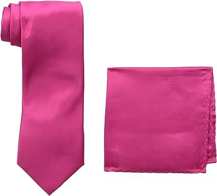 Stacy Adams Mens Satin solid Tie Set