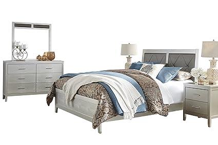Amazon.com: Ashley Olivet 5PC Bedroom Set Queen Panel Bed Two ...