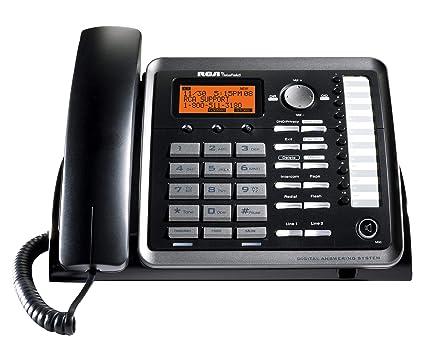 Amazon com : RCA 25254 DECT 6 0 1-2 Handset 2-Line Corded
