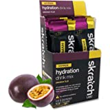 SKRATCH LABS Hyper Hydration Drink Mix, Passion Fruit, (8 Pack Single Serving) - High Sodium, All Natural, Electrolyte…